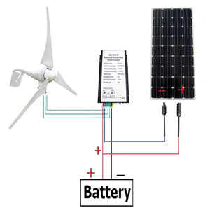 ECO-WORTHY 12V 560W Wind Mono Solar Kit